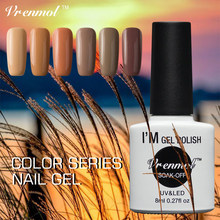 Vrenmol Coffee Brown Colors Series Gel Nail Polish Shiny Surface UV Vernis Soak Off Gorgeous Color Series Long Lasting Liquid