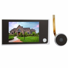 "3.5"" Video Intercom TIVDIO Digital LCD Door Viewer 2.0 Megapixel Camera Door Intercom Monitor For Home Security F4344A(China)"