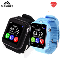 Makibes V7K Kids Smart Watch MTK2503 GPS Touch Screen Deep Waterproof Google Map SOS Button Watch For Child GPS Locator(China)