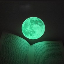 Interesting Moon Wall Sticker Bedroom Decor DIY Children interests Glow In Dark Luminous Moonlight Wall Stickers Vinyl 10 cm