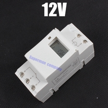 DIGITAL PROGRAMMABLE Timer TIME RELAY Microcomputer Electronic Digital TIMER SWITCH Relay Control 12V Din Rail Mount tp8a16