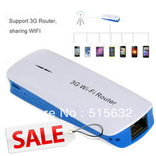 3G Wi-Fi Wireless Router 1800mAh Mobile Power Bank Wireless Mini Wifi AP Triple