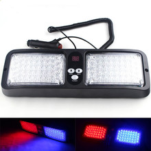 Newest 12 Modes 86 LED Red Blue Super Bright Police Strobe Light Car Truck Visor Strobe Flash Emergency Warning Light Wholesale