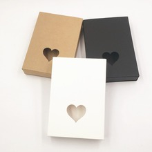 24pcs/lot new Small kraft paper cardboard gift boxes for wedding ,black paper drawer box,christmas gift packaging box