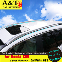 JGRT  car styling For Honda CRV luggage rack 2015 2016 For CRV not require holes Free Punch community 4S Roof Racks Car Acces