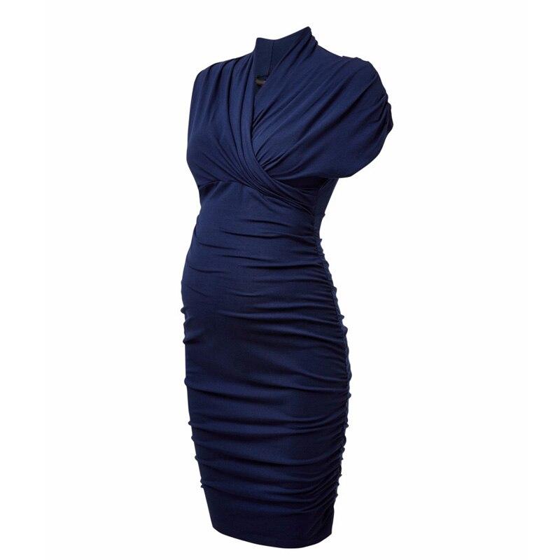 Promotion 4 Colors Maternity Dresses for Pregnancy Knee Length Office Lady Business Party Dress Elegant Women Vestidos<br>