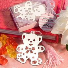 Teddy Bear Bookmark in Gift Box Wedding Baby shower Children Kds Birthday Party Favor Gifts
