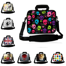 "Computer Laptop Bag Notebook Tablet Bags Barnd New 14 Inch 14.1"" 14.4"" Unisex Small Skulls Neoprene Waterproof Briefcase Bag"