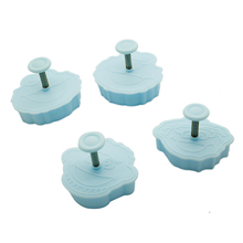 New 3D Sesame Street Fondant Cookie Cutter Biscuit Hand Stamp Press Plunger Mould 4 pcs/set