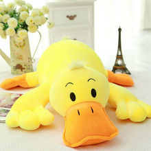 50-75cm Large Size Duck doll Stuffed Nanoparticle yellow Duck plush toys pillow cushion duck cloth doll kids toys birthday gift(China)