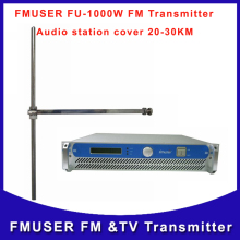 FMUSER FU-1000W 1000watts FM broadcast radio Transmitter  Audio Station  with  ZHC-DV1 fm Antenna and RF cable A SET