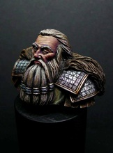 Free Shipping 1/12 Scale Unpainted Resin Bust Dwarf General(China)