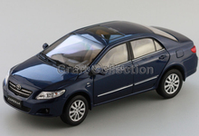 Deep Blue Toyota Corolla 2007 Alloy Model Diecast Show Car Replica 1:18 Collectable Diecast Slot Cars Original Factory