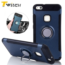 Twitch For Huawei P10 Lite case Robot Armor Ring Kickstand Rubber Case For Huawei P10 Lite Case For Huawei P10 P10 Plus Fundas