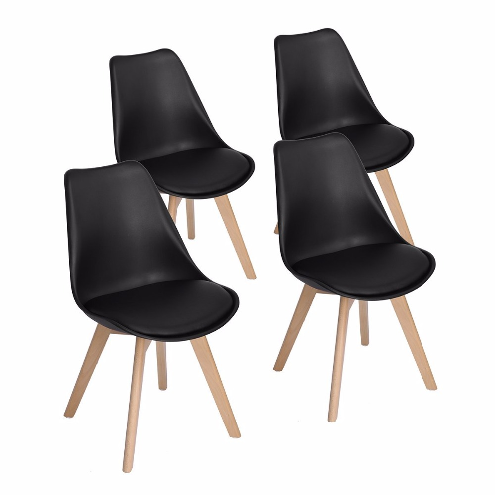 EGGREE  Modern Living Room Furniture Leisure Chairs With Solid Wood Beech Legs Wood Feet Plastic Chair<br>