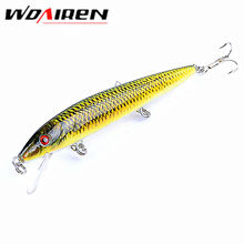 1Pcs Floating 0.6m-1.8m Minnow 12cm 13.7g Fishing Lure 6# Fish Wobbler Tackle Crankbait Artificial Japan Hard Bait Swimbait(China)