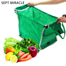 New Foldable Tote Eco-friendly Reusable Shopping Bags Large Trolley Supermarket Grocery Shopping Bags