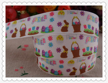 2014 new arrival 7/8'' (22mm) easter printed grosgrain ribbon cartoon ribboon children accessories wholesale 50 yards AN2829