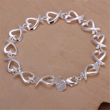 silver plated cross heart chain wedding women lady bracelets new listings high quality fashion jewelry Christmas gifts H177
