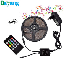 RGB LED Strip 3528 non waterproof 5M 10M set Fita led light 10m 3528 rgb diode led tape set+Music controller+DC12V Power Adapter(China)