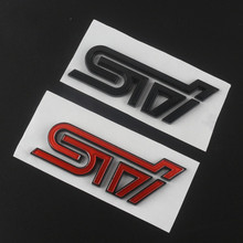 3D Car Styling Aluminum STI Sticker Decal Emblem Badge Sticker For SUBARU LEGACY Forester Outback Rally WRX WRC Impreza