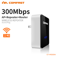 Comfast CF-WR300N Wireless N Wifi Repeater 802.11N/B/G Network Router Range Expander 300Mbps 2dBi Antenna Signal Boosters(China)