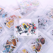 26-40pcs/set Paper Stickers Cute Cartoon Kumamon Food Panda Cats Plants Photo Album Diary Scrapbook Calendar Decorative Stickers