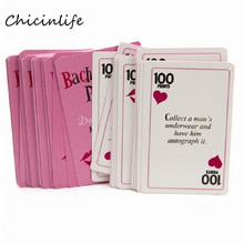 Chicinlife 1set Bachelorette Party Truth or Dare Game Cards Hen Night Party Supplies Bachelorette Party Decoration gift(China)