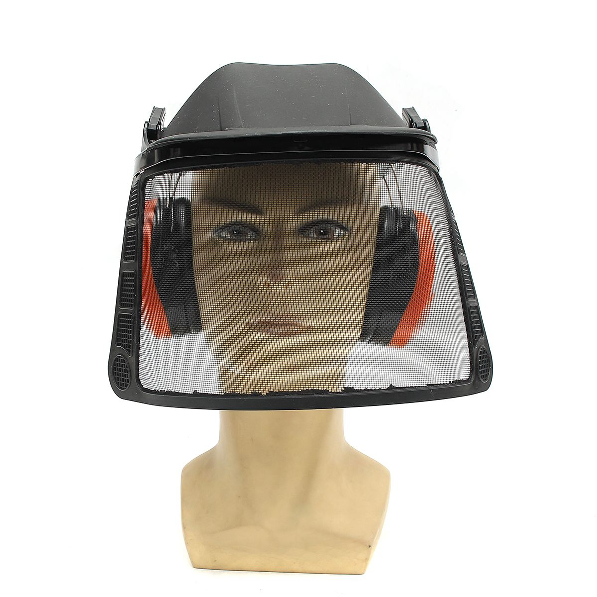 NEW Chainsaw Brushcutter Safety Mask Helmet Hat Protective Ear Muff Mesh Visor Mask Set  Workplace Safety<br>