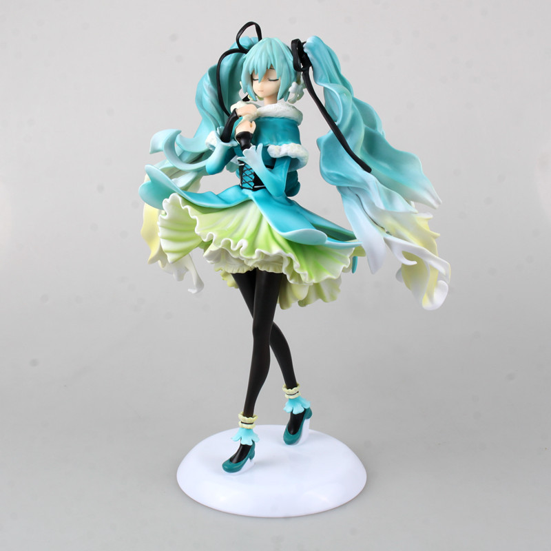 Volcaloid Hatsune Miku Snow in Summer 1/7 Scale Pre-painted Figure Collectible PVC Action Figure Model Toy 28cm HMAF001<br><br>Aliexpress