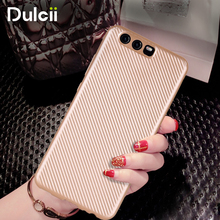 DULCII for Huawei P10 P10 Plus Phone Cases Carbon Fibre Texture TPU Protection Mobile Casing Cover for Huawei P 10 Cover - Gold