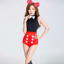 Vocole Mujeres Sexy Lindo Minnie Mouse Costume Top Shorts Set Cosplay Colthes