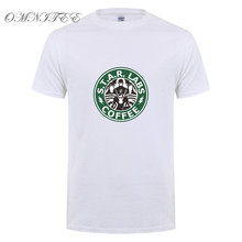 Summer New The Flash Star Labs Coffee T Shirts Men Funny Print T Shirt Short Sleeve O Neck Men T-shirt Cotton Tee Tops Free Ship