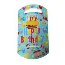"Paper Party Gift Loot Bags Candy Food Blue Cake ""Happy Birthday"" Pattern 24.7cm x 13.6cm ,10 PCs(China)"