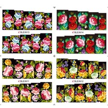 1sheets Optional 3D Designs Tips Nail Art Flower Stickers Water Transfer Decals Wraps Decorations Full Cover Tools BLE/M11-14