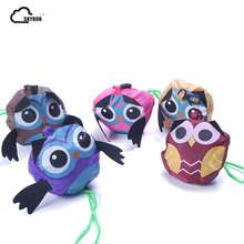 2018 Cute Animal Owl Shape Folding Shopping Bag Eco Friendly Ladies Gift Foldable Reusable Tote Bag Portable Travel NEW(China)