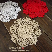 free shipping Korean fashion Handmade crochet ad table mat decoration cushion for home decoration(China)