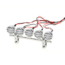 LED Roof Light Bar Set 5 Spotlight for 1/10 RC Crawlers(China)