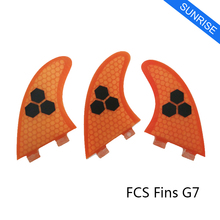 Stand Up Paddle Free Shipping FCS G7 Fin Honeycomb Fiberglass 5 Colors Available Surf Fin