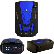Auto 360 Degree English/Russian Car Anti Radar Detector for Vehicle V7 Speed Voice Alert Warning 16 Band LED Display Detector