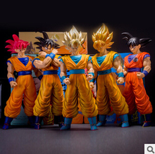 Japan's Animation Dragon Ball Z goku action figure toys PVC Large 40CM Super Saiyan goku high quality classic kids toys gifts(China)