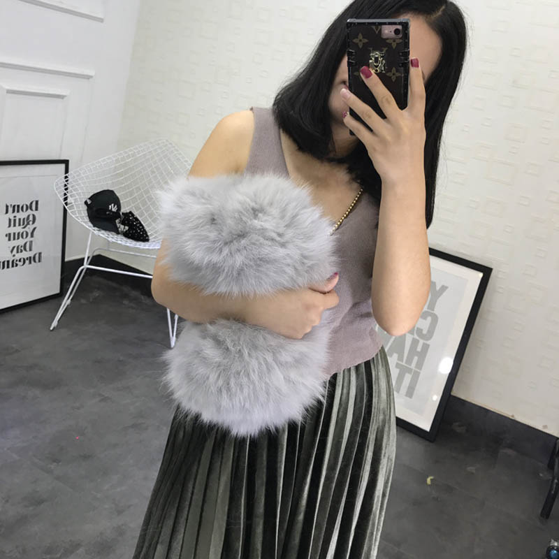 Fashion Womens Clutches Bags Lady Mixed Faux Fur Clutch Wallet Shoulder Bags Pouch Party Messenger Purse Colorful Bag S084<br>