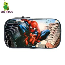 Comics Avengers Spider Man Prints Pencil Case Students Stationery Storage Bags Men Women Mini Cosmetic Cases Kis Pen Pouch Gift(China)
