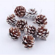 9PCS 3-4cm Christmas Tree Hanging Balls Pine Cones Party Decoration Ornament Decor For Home Christmas Supplies