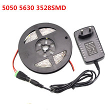 DC12V Led Holiday Light String Ribbon Tape SMD Light 5630 3528 5050 IP20 Led Strip + 3A Power Supplier Adapter + DC(China)