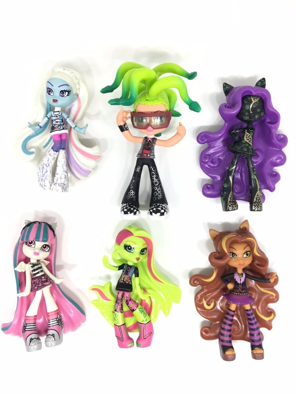 6pcs/set Monsters High School PVC Action Figures Dolls Grils Casual Clothes Fashionable Dresses Collection Toys for Children<br><br>Aliexpress