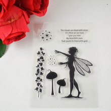 DECORA 1PCS gril angel Clear Transparent Stamp DIY Scrapbooking/Card Making/Christmas Decoration Supplies