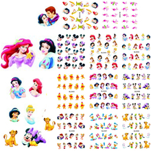 1 sets 11 designs Cartoon Princess Nail Art Water Transfer Stickers Foils Watermark Decals DIY Beauty Nail Supplies LABLE488-498