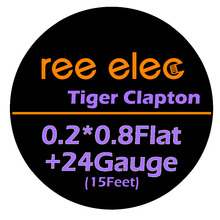 Buy REE ELEC 5m/roll 24G Tiger Clapton Heating Wire RDA RBA Rebuildable Atomizer Coil Vape Pen Premade Heating Wire Coil Tool for $2.99 in AliExpress store