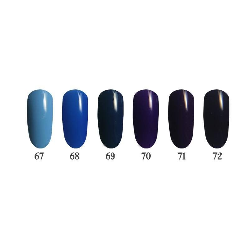 3 steps 6PCS  Nail Gel Kit UV/LED European quality Easy to choose color easy applying QBEKA 67~72 <br>